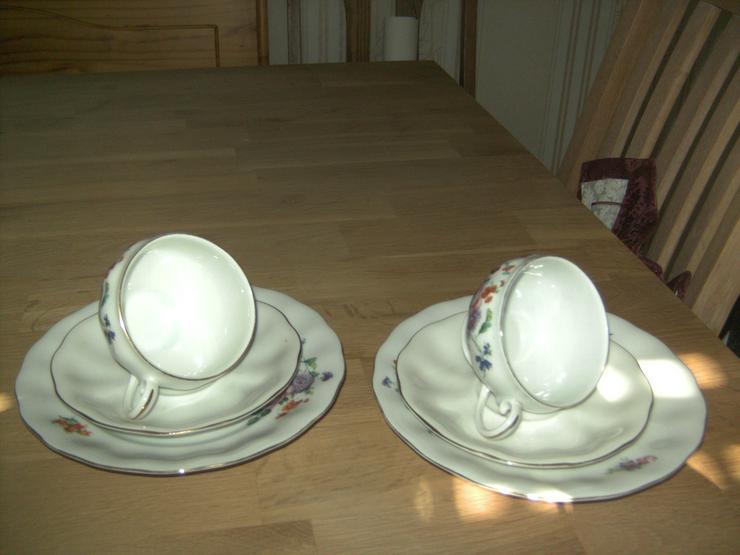 2 Sammeltassen Elfenbeinfarbe von Koenigszelt Schlesien 1920-40