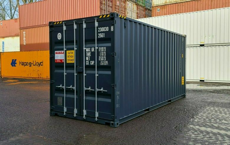 20`HC Seecontainer NEU RAL 7016 Anthrazitgrau Lagercontainer Stahlcontainer