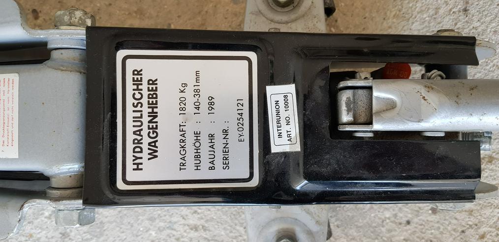 Hydraulischer Wagenheber mit 4Stk.Unterstellbock und klappbar. Mit Scherenwagenheber
