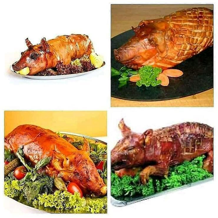 Geflügel und Schwein gebacken gekasslert oder gegrillt