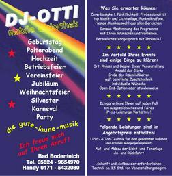 DJ OTTI TANZMUSIK F�R JEDEN ANLASS - Musik, Foto & Kunst - Bild 1
