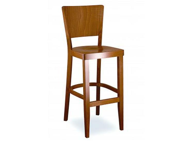 Klassischer Barhocker mit Holzsitz