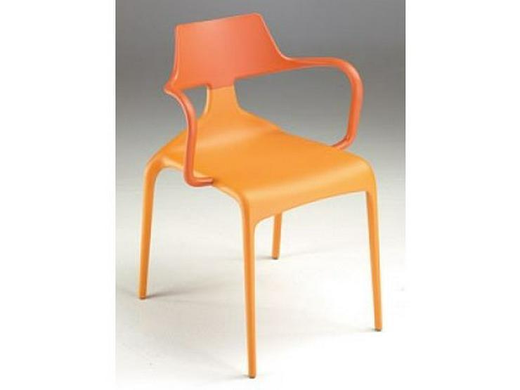 Kunststoff-Stuhl mit Armlehne SHARK