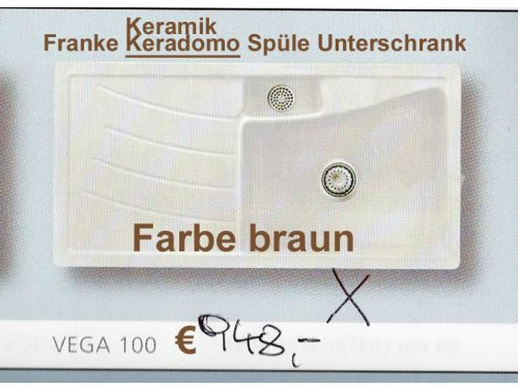 Franke Einbauspüle/braunKeradomo VEGA 100/50