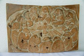 Holzschnitzarbeit Holzrelief Eduard Moroder - Holzbilder - Bild 1