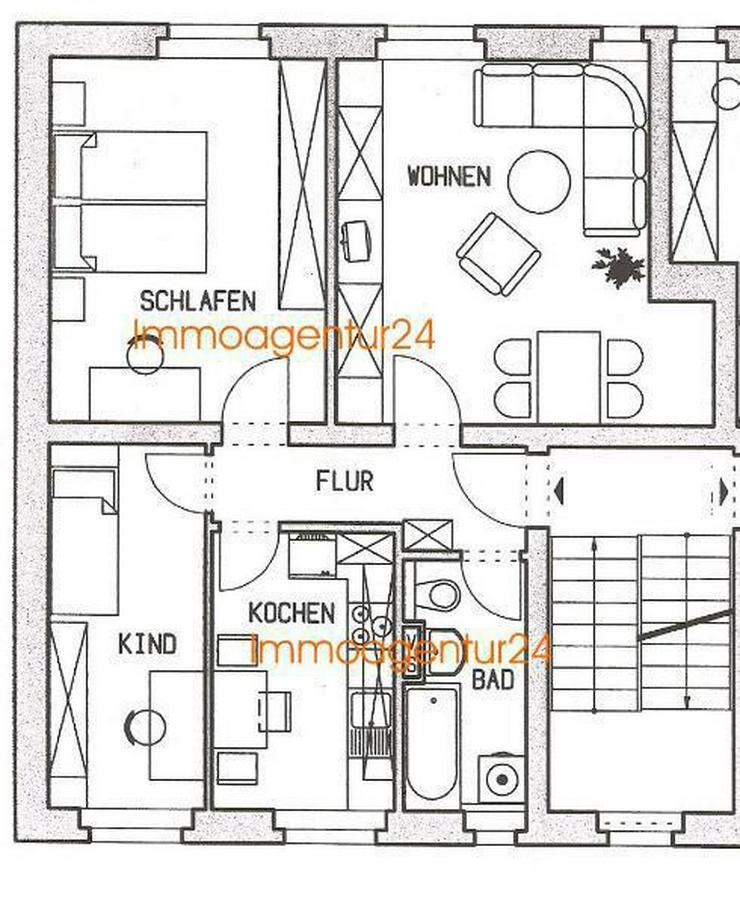 Kapitalanlage 3 ZK Bad Leipzig-Lößnig - Wohnung kaufen - Bild 1