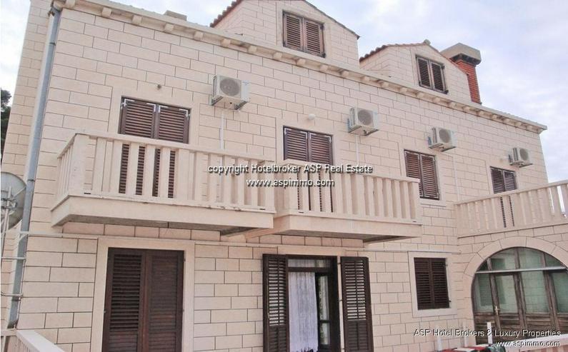 Naturstein verkleidete Hotel Villa mit Appartements und Meerblick in Dubrovnik Kroatien zu... - Haus kaufen - Bild 1
