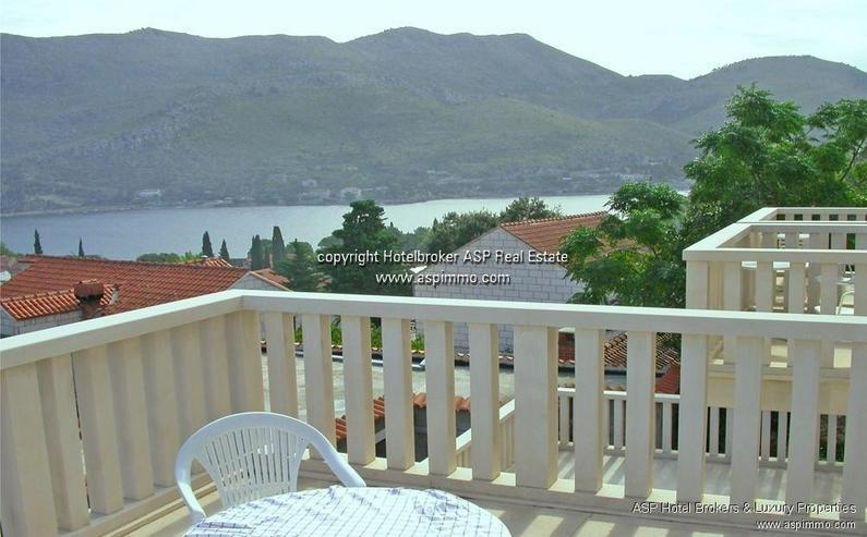 Bild 5: Naturstein verkleidete Hotel Villa mit Appartements und Meerblick in Dubrovnik Kroatien zu...