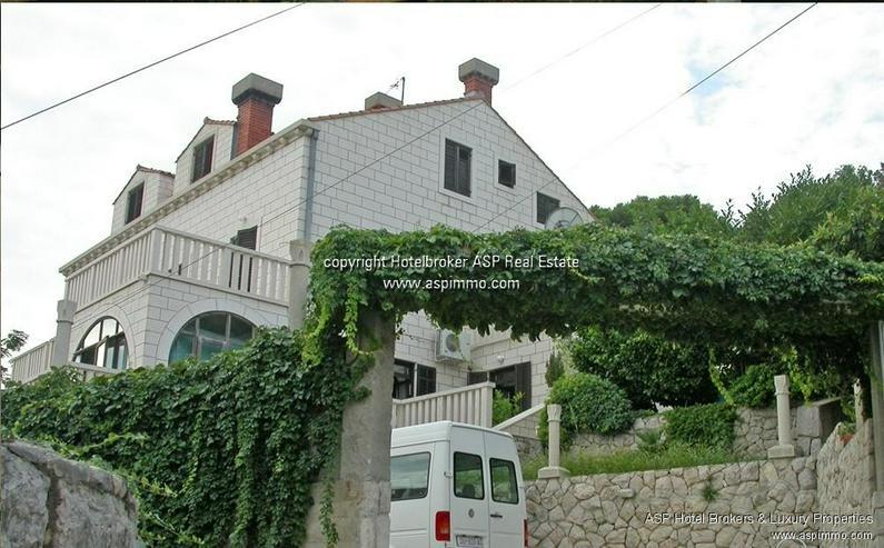 Bild 2: Naturstein verkleidete Hotel Villa mit Appartements und Meerblick in Dubrovnik Kroatien zu...