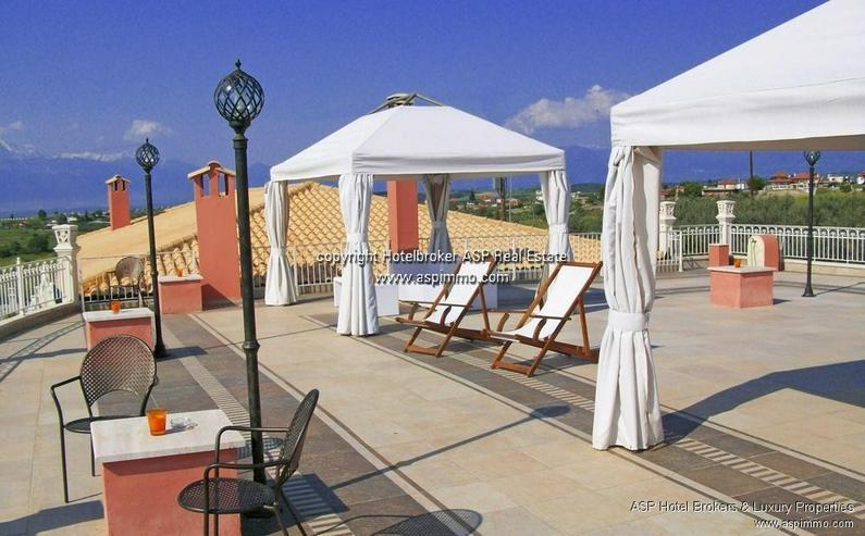 Bild 4: Neu gebautes luxuriöses 4 Sterne Design Hotel mit Blick über das Meer und auf den Olymp ...