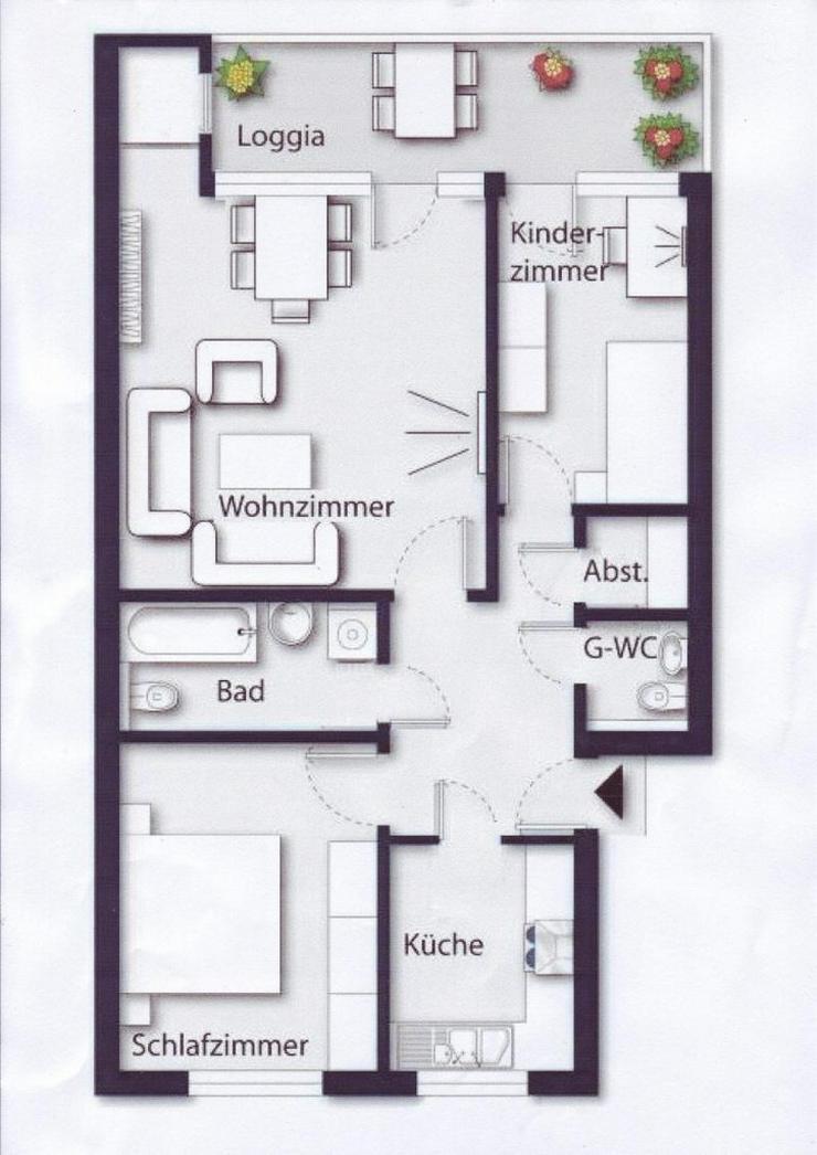 Bild 3: Anlageobjekt  Dachgeschosswohnung  mit Tiefgarage