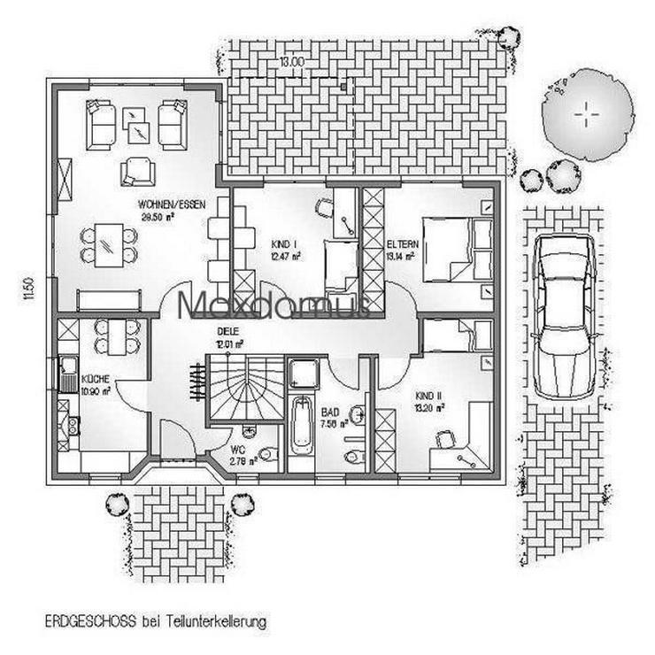 """Bild 3: maxdomus Deutschland """" Wir leben Häuser"""" Haus Napoli Massivhaus"""