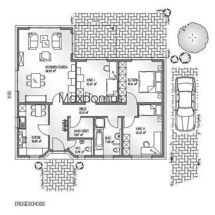 """Bild 2: maxdomus Deutschland """" Wir leben Häuser"""" Haus Napoli Massivhaus"""