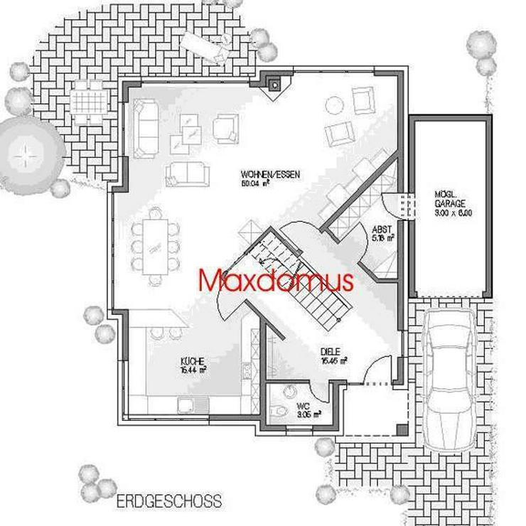 """Bild 2: maxdomus Deutschland """" Wir leben Häuser"""" Haus Rimini Massivhaus"""