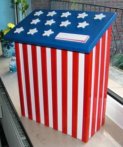 PIMP MY MAILBOX Briefkasten Stars Strip - Gartendekoration - Bild 1