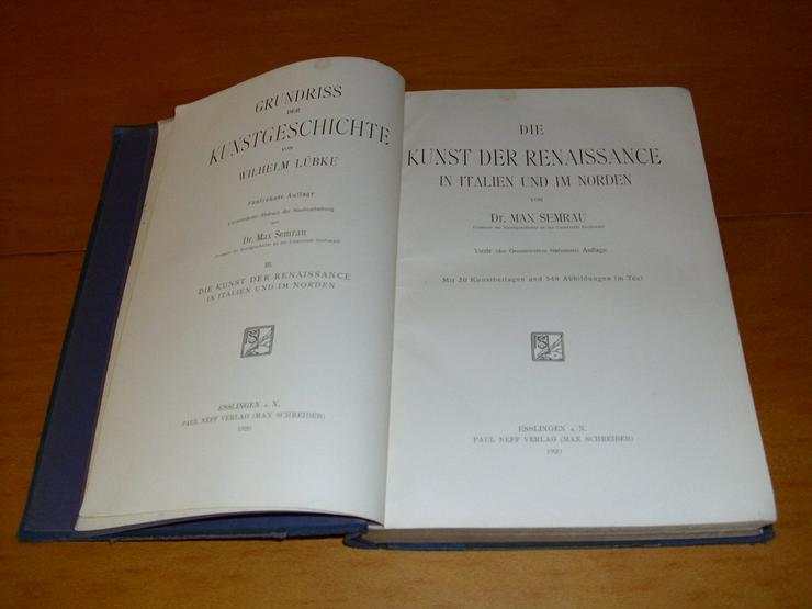 Die Kunst der Renaissance Buch von 1920 - Kultur & Kunst - Bild 2