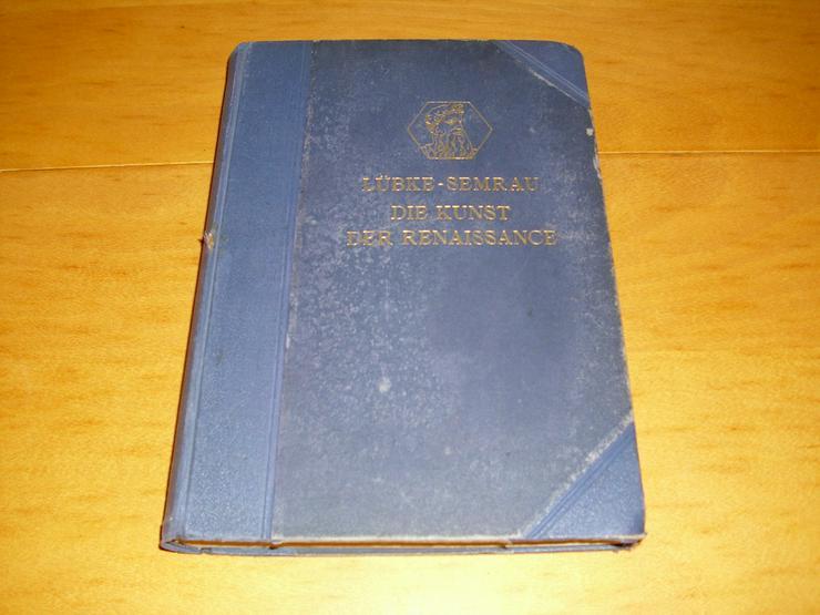 Bild 1: Die Kunst der Renaissance Buch von 1920