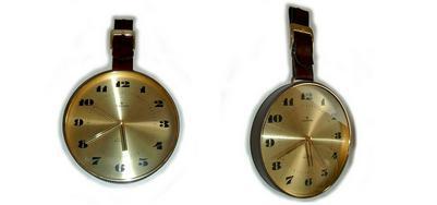 Seltene Leder Wanduhr v Junghans Astra - Uhren - Bild 1