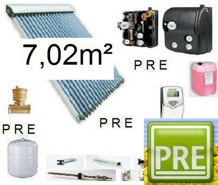 PRE - 8 Röhrenkollektor Solar Anlage für Heizen